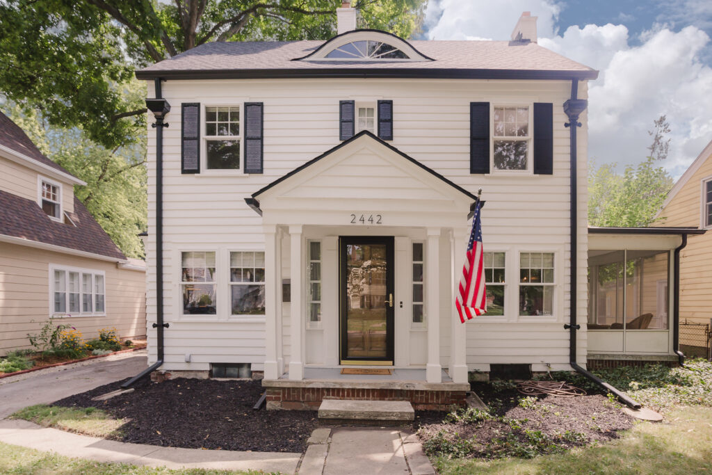 Adding shutters can add visual interest to the exterior of your home