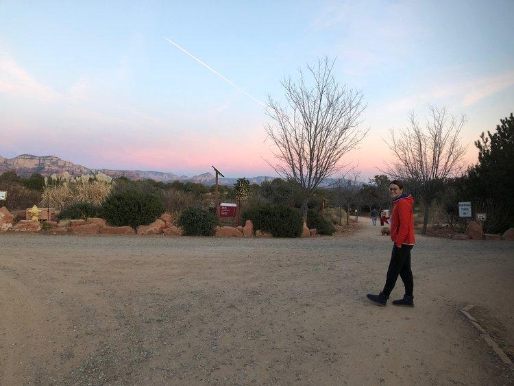 Early morning walk to breakfast at Tao Mago retreat in Sedona.