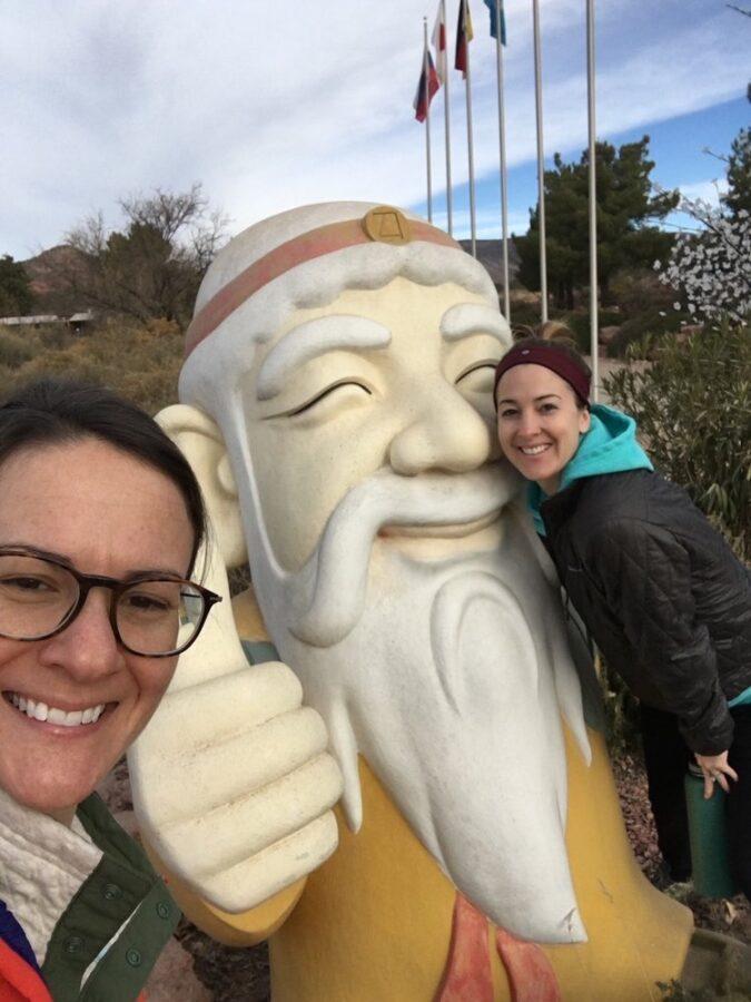Tao Mago retreat with Buddha statue.