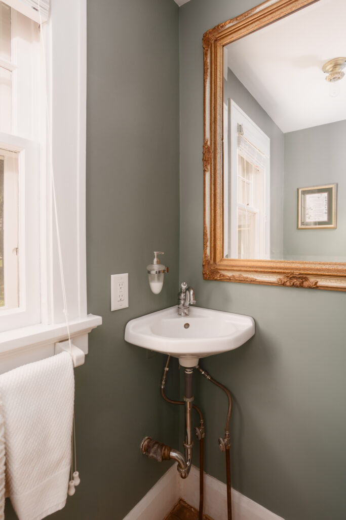 Half bathroom with vintage charm