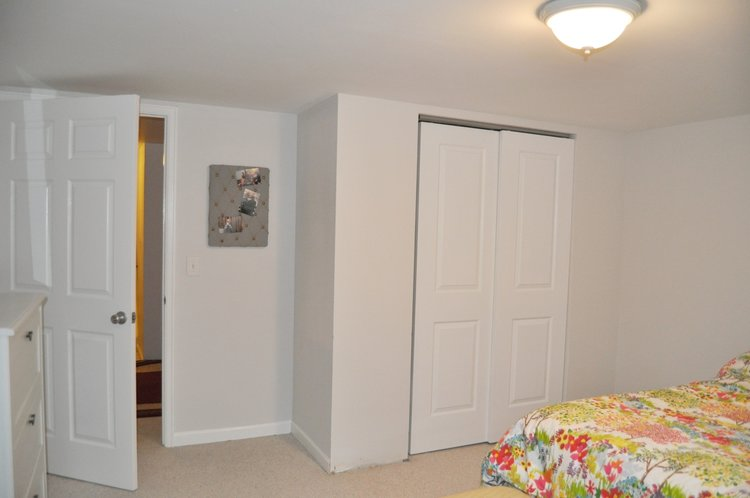 Adding a closet to make the basement bedroom legal