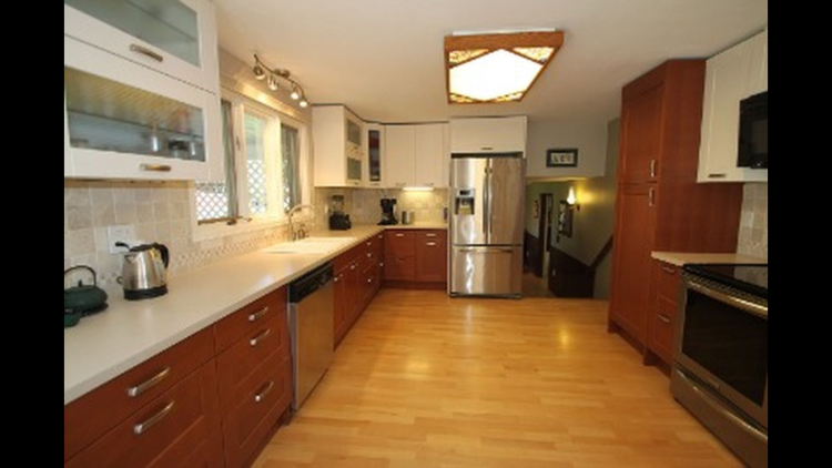 Large kitchen with Ikea cabinets