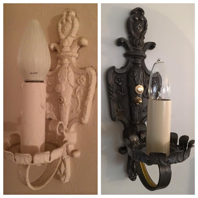 Restored 1920's sconces