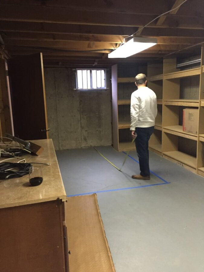 The storage room before we added the bathroom