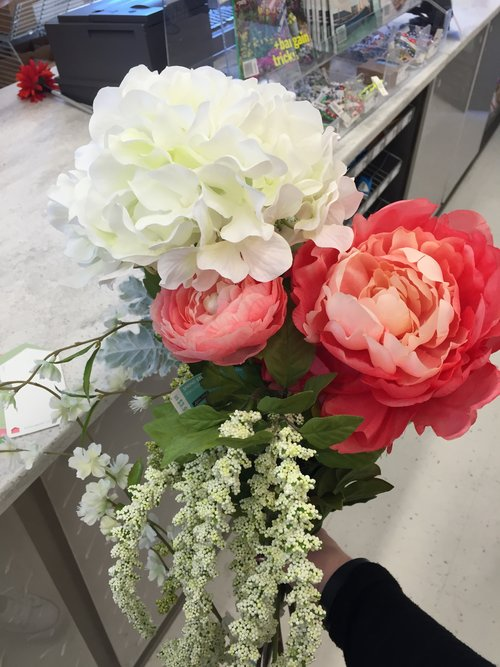 Faux flower inspiration for the nursery