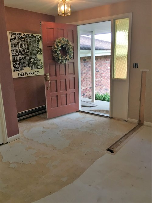 Opening up the front entry in our new family room