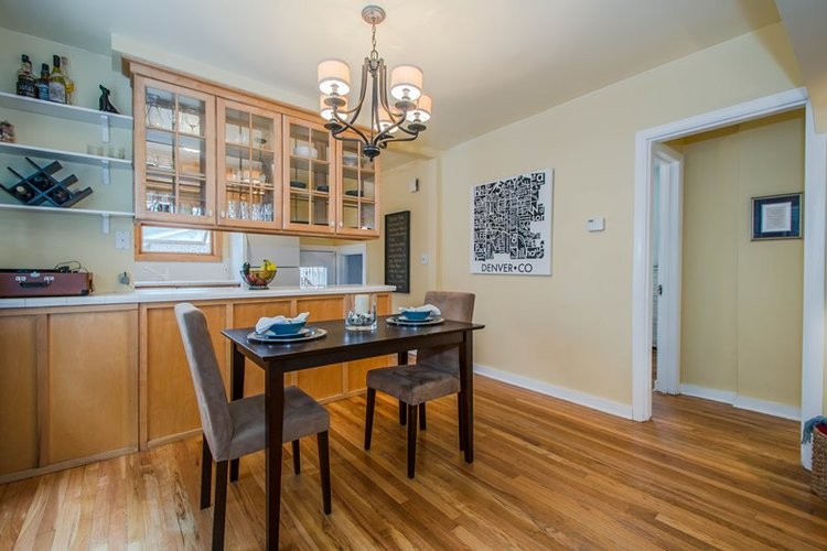 Proportionate furniture when staging a small home