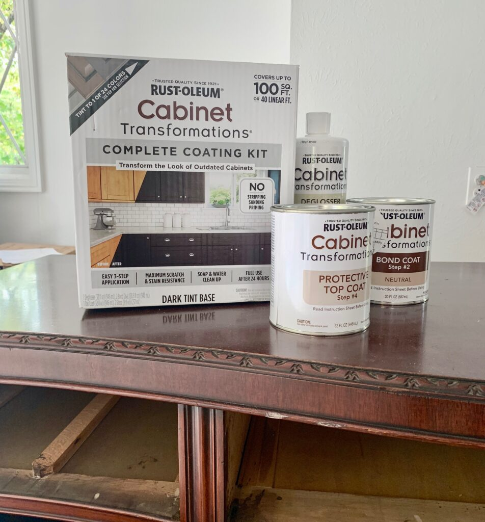 Rust-oleum furniture paint kit to refinish the buffet