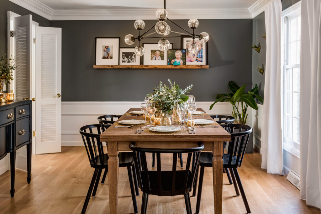 Modern dining room reveal