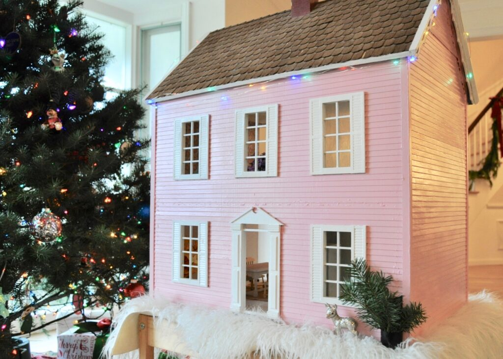 Dollhouse makeover Christmas present