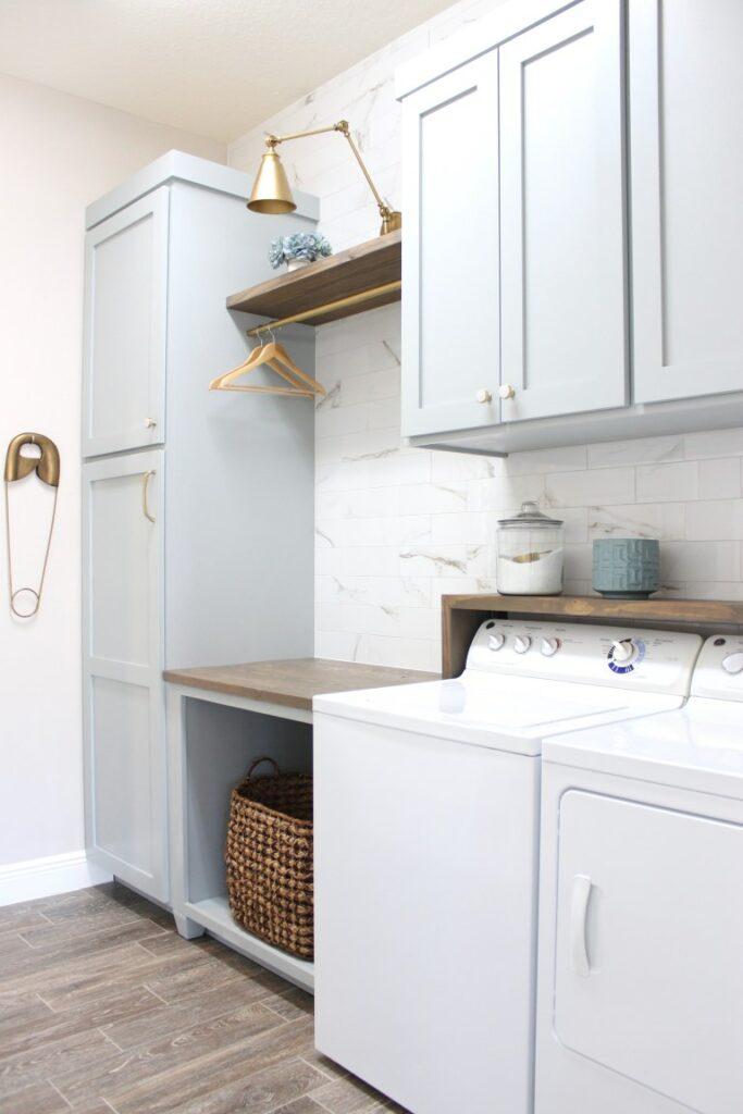 Frills and Drills laundry room DIY